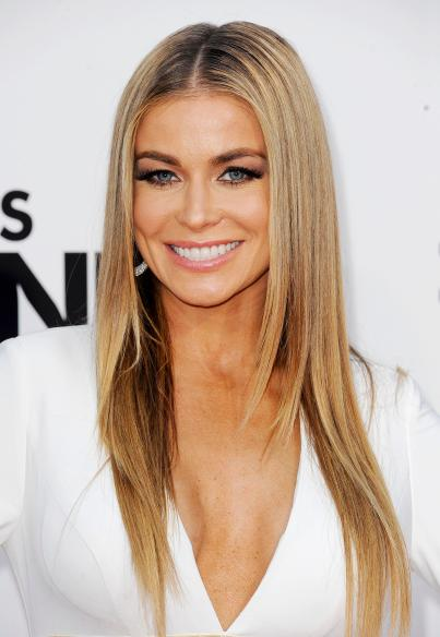Carmen Electra white outfit long hair