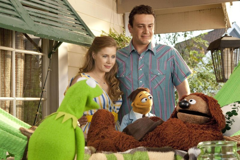 The Muppets 2011 - Kermit, Amy Adams, Jason Segal and Rowlf