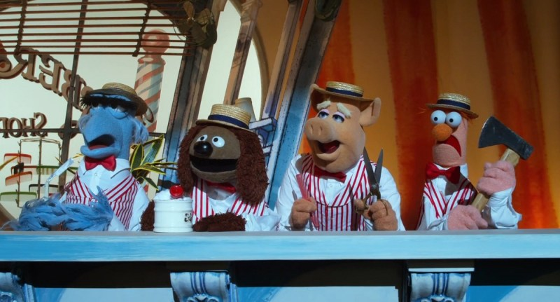 The Muppets 2011 - Sam the Eagle. Rowlf, Link and Beaker
