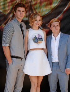 David M. Benett/Getty Images Liam Hemsworth, Jennifer Lawrence and Josh Hutcherson.