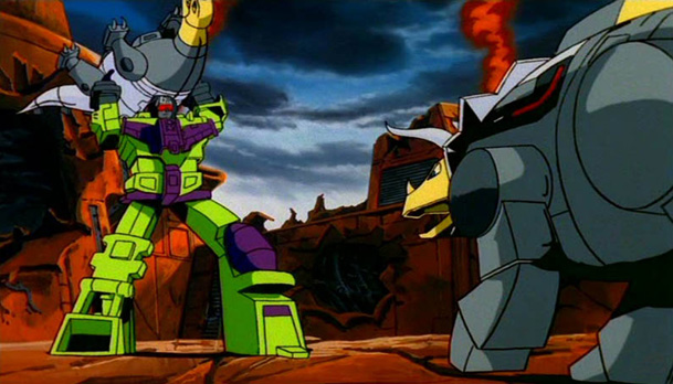 The Transformers The Movie - Devastator vs The Dinobots