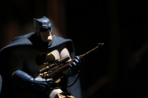 Mezco Dark Knight Returns Batman figure with sniper rifle