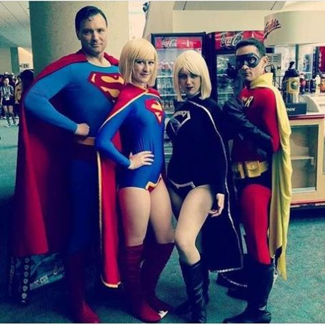 sdcc2014 cosplay - Angi V and DC family