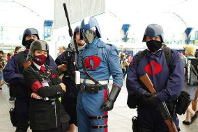 SDCC2014 cosplay - Cobra Commander and Cobra troops