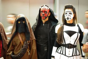 SDCC2014 cosplay - Darth Maul, Jawa and Storm trooper