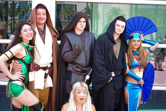 SDCC2014 cosplay - Jedi and Sith
