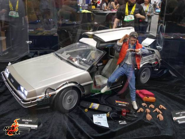 SDCC2014 Hot Toys display - Back to the Future display