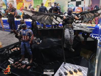 SDCC2014 Hot Toys display - Captain America and Falcon