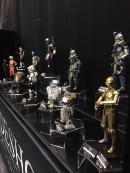 SDCC2014 Sideshow display - Star Wars droids and clones