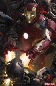 The Avengers Age of Ultron concept art - Iron Man vs Ultrons
