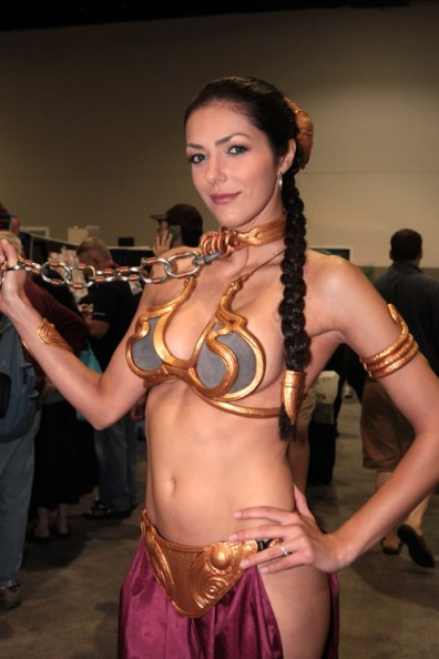 Adrianne+Curry HOT in Princess Leia cosplay