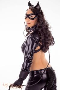 Cosplay Confidential Kim as Catwoman with whip