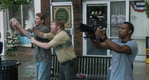 Warner Bros. Pictures Donk (Kyle Davis), Reevis (Jon Reep) and Daryl (Arlen Escarpeta) shoot.