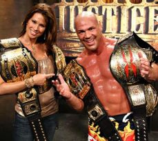 Kurt Angle with all the TNA gold