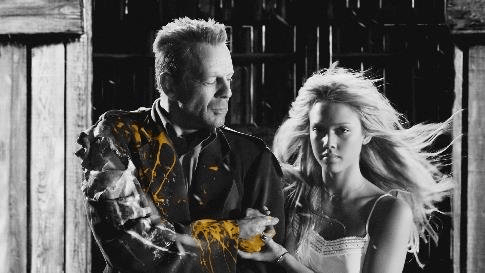 sin city 2005 - bruce willis and jessica alba