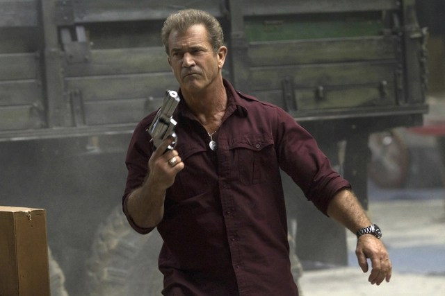 The Expendables 3 Mel Gibson stars as Conrad Stonebanks.