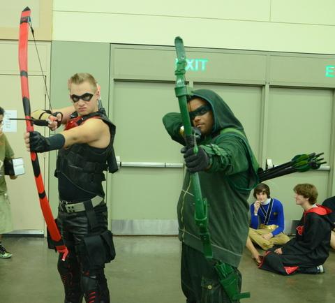 Baltimore Comic Con 2014 - Arsenal and Green Arrow