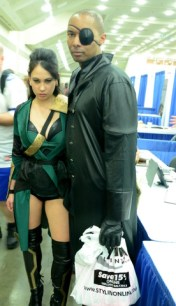 Baltimore Comic Con 2014 - female Loki and Nick Fury