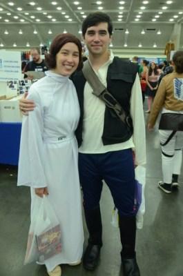 Baltimore Comic Con 2014 - Princess Leia and Han Solo