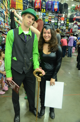 Baltimore Comic Con 2014 - Riddler and Catwoman