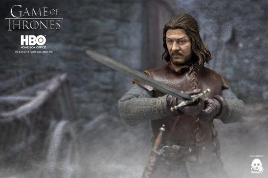 Game of Thrones Ned Stark aiming sword