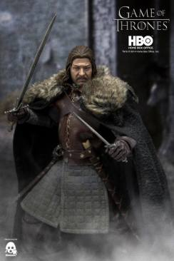 Game of Thrones Ned Stark with cloak and swords