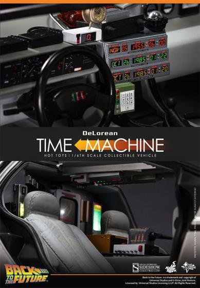 Hot Toys Back to the Future DeLorean interior