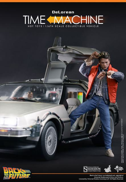 Hot Toys Back to the Future DeLorean with Marty