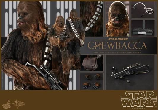 Hot Toys Star Wars Chewbacca - collage with accessories