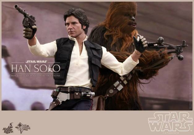 Hot Toys Star Wars Han Solo - aiming with Chewie