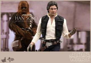 Hot Toys Star Wars Han Solo - with gloves and Chewie