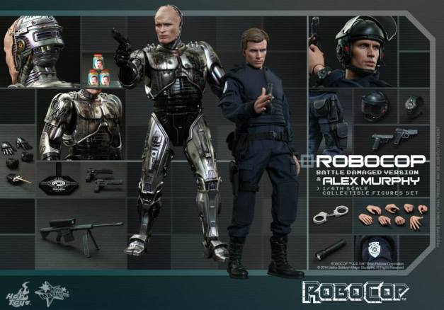 Hot Toys Robocop and Alex Murphy set - collage