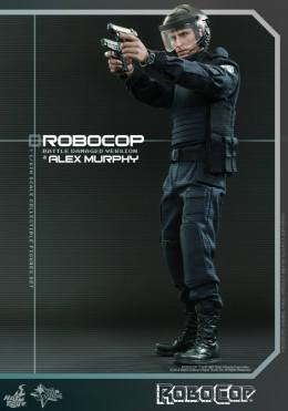 Hot Toys Robocop and Alex Murphy set - Murphy aiming
