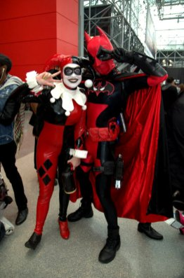 NYCC2014 cosplay - Harley Quinn and Batpool