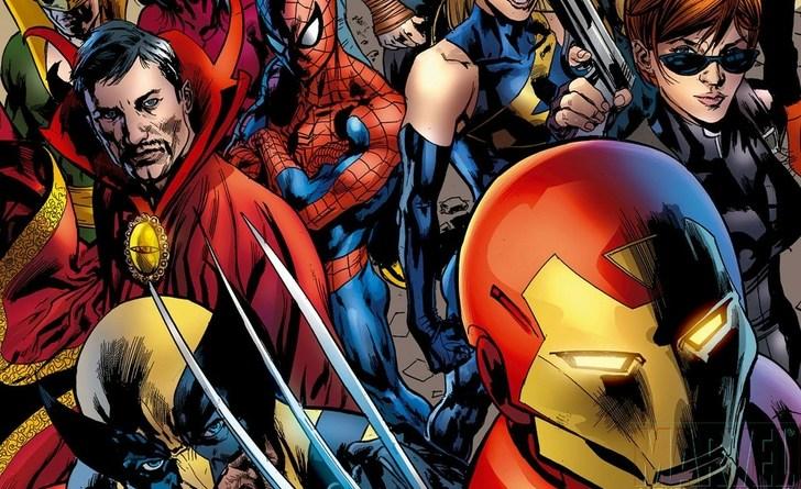 Spider-Man, Wolverine, Iron Man, Dr. Strange, Black Widow and Ms. Marvel