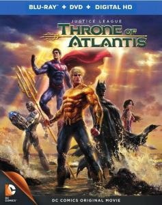 Justice League Throne of Atlantis blu-ray cover