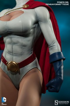 Sideshow Collectibles Power Girl - uniform close up