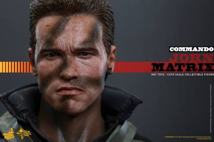 Hot Toys Commando - John Matrix figure - close up face