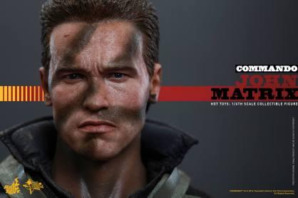 Hot Toys Commando - John Matrix figure - close up face