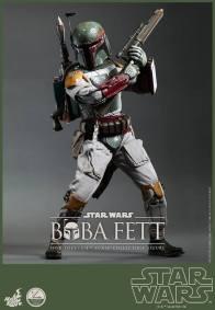 Hot Toys Return of the Jedi Boba Fett figure - gun raised