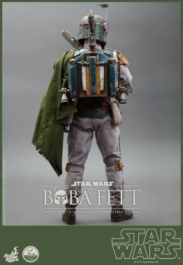 Hot Toys Return of the Jedi Boba Fett figure - rear shot