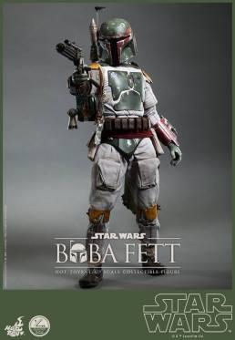 Hot Toys Return of the Jedi Boba Fett figure - taking aim