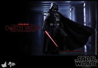 Hot Toys Star Wars Darth Vader figure - raised on step