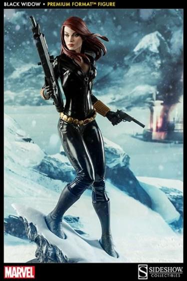 Black Widow - Marvel Premium Format Figure - wide shot in the snow