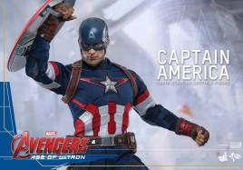 Hot Toys The Avengers Age of Ultron Captain America - holding shield up