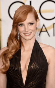 Jessica Chastain 2015 Golden Globes