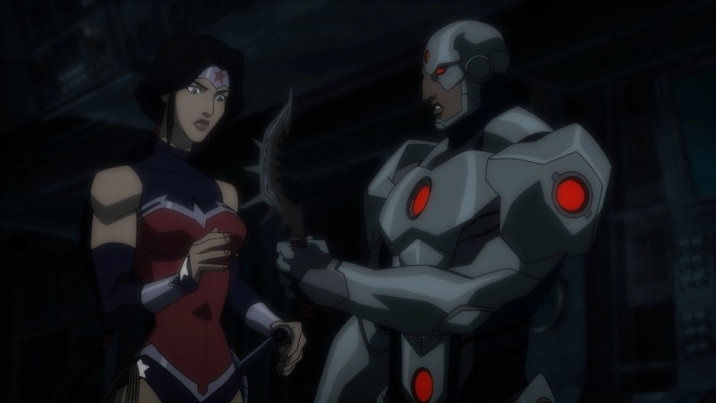 Justice League Throne of Atlantis - Wonder Woman and Cyborg