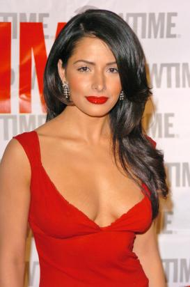 sarah-shahi-sexy in red dress