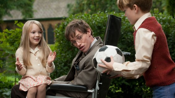 The Theory of Everything - Eddie Redmayne with children