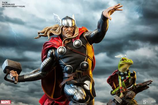 Thor Marvel Premium Format Figure - with Thor frog